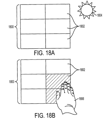 Integrated touch sensor and solar assembly: US8368654B2