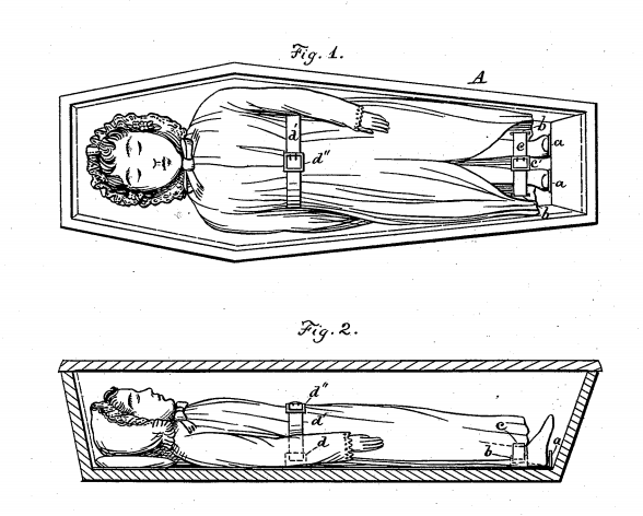 Amusing coffins patents