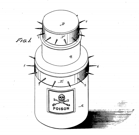 Amusing poison bottle patent