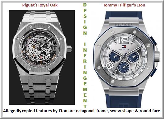 Piguet's Royal Oak Vs. Tommy Hilfiger's Eton (Infringement case)