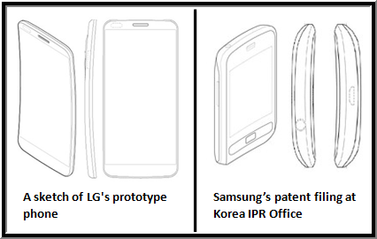 LG and Samsung Curved Screen Mobile Phones