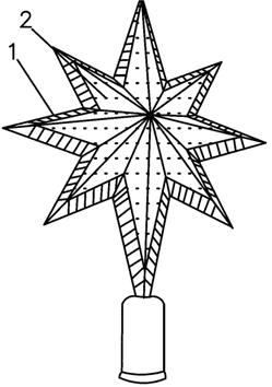 4. CN203000480U 2013-06-19 Eight-angle star pendant for Christmas trees