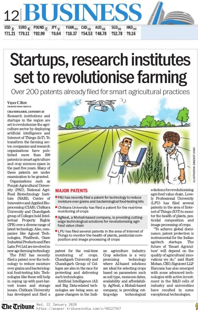 Startups and Research Institutes are using IoT, Artificial Intelligence and Machine Learning technologies in India.